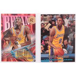 Lot of (2) Kobe Bryants Basketball Cards with #R12 Kobe Bryant  #142 Kobe Bryant RC
