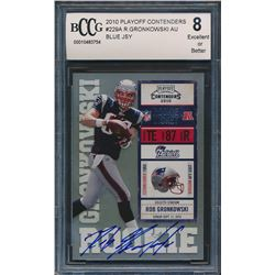 2010 Playoff Contenders #229A Rob Gronkowski AU / 499* RC/blue jsy (BCCG 8)