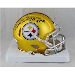 "Rod Woodson Signed Steelers Blaze Speed Mini Helmet Inscribed ""HOF 09"" (JSA COA)"