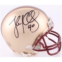 Luke Kuechly Signed Boston College Mini-Helmet (JSA COA)