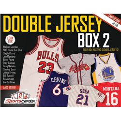 Double Jersey Box 2- Sportscards.com Multi-sport Mystery Signed Jersey Box!