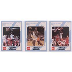 Lot of (3) 1989-90 North Carolina Collegiate Collection Michael Jordan Basketball Cards with #17, #1