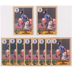 Lot of (10) 1987 Topps #170 Bo Jackson RC