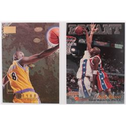 Lot of (2) Kobe Bryant 1996-97 SkyBox Premium #55 RC  1996 Score Board Autographed BK #15 RC