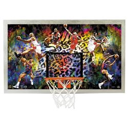 "Dennis Rodman Signed ""Cleaning Up The Glass"" 18.5x30.5 Backboard (UDA COA)"