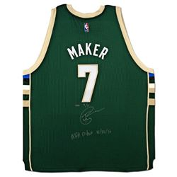 "Thon Maker Signed Bucks Limited Edition Adidas Jersey Inscribed ""NBA Debut 10/30/16"" (UDA COA)"