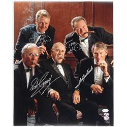 """Celtics Hall of Famers"" 16x20 Photo Signed by (4) With Larry Bird, Tom Heinsohn, Bob Cousy,  John H"