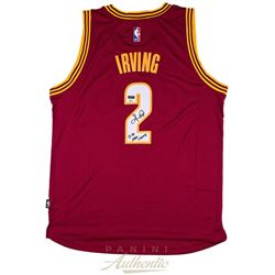"Kyrie Irving Signed Cavaliers LE Jersey Inscribed ""15-16 NBA Champ"" (Panini COA)"