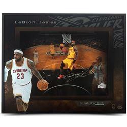 "LeBron James Signed Cavaliers ""Lift Off"" 16x20x2 Custom Framed Shadowbox Display (UDA COA)"