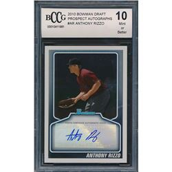 2010 Bowman Draft Prospect Autographs #AR Anthony Rizzo (BCCG 10)