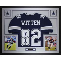 Jason Witten Signed Cowboys 35x43 Custom Framed Jersey (JSA COA)