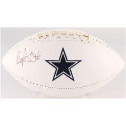 Dak Prescott Signed Cowboys Logo Football (JSA COA)