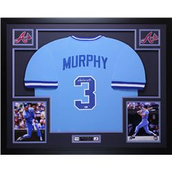 Dale Murphy Signed Braves 35x43 Custom Framed Jersey (MLB Hologram)