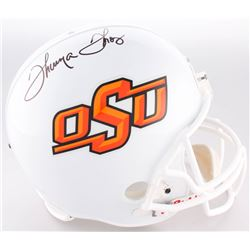 Thurman Thomas Signed Oklahoma State Cowboys Full-Size Helmet (JSA COA)