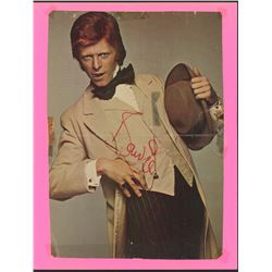 David Bowie Signed 7.5x10.5 Magazine Photo (JSA LOA)