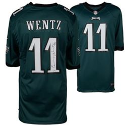 "Carson Wentz Signed Eagles Nike Jersey Inscribed ""AO1"" (Fanatics Hologram)"