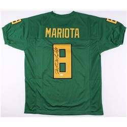 Marcus Mariota Signed Oregon Ducks Jersey (JSA COA)