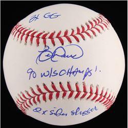 "Eric Davis Signed OML Baseball Inscribed ""3x GG, 90 W/S Champs""  ""2x Silver Slugger"" (JSA COA)"