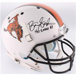 "Barry Sanders Signed Oklahoma State Cowboys Full-Size Throwback Helmet Inscribed ""Heisman 88"" (Radtk"