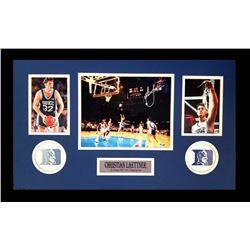 Christian Laettner Signed Duke Blue Devils 16x26 Custom Framed Photo Display (Radtke COA)