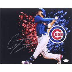 Gleyber Torres Signed Cubs 11x14 Photo (JSA COA)