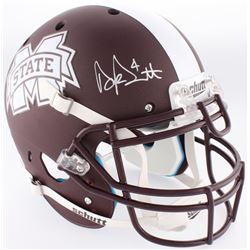 Dak Prescott Signed Mississippi State Bulldogs Custom Matte Brown Full-Size Authentic On-Field Helme