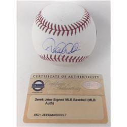 Derek Jeter Signed OML Baseball (Steiner COA)