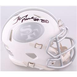 Jerry Rice Signed 49ers Custom Matte White ICE Speed Mini Helmet (Beckett COA)