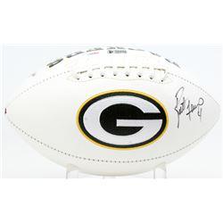 Brett Favre Signed Packers Logo Football (PSA COA  Favre Hologram)