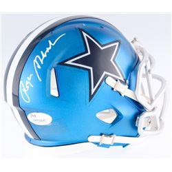 Roger Staubach Signed Cowboys Blaze Mini-Helmet (JSA COA)