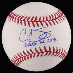 "Curt Schilling Signed OML Baseball Inscribed ""Reverse the Curse"" (JSA COA)"