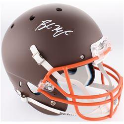 Baker Mayfield Signed Browns Full-Size Custom Matte Brown Speed Helmet (Radtke COA)