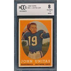 1958 Topps #22 Johnny Unitas (BCCG 8)