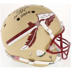 """Fred Biletnikoff Signed Florida State Seminoles Full-Size Helmet Inscribed """"1655 YDS"""", """"20 TD's"""",  """""""