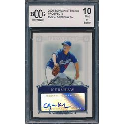2006 Bowman Sterling Prospects #CK Clayton Kershaw AU A (BCCG 10)