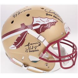 Jameis Winston, Charlie Ward  Chris Weinke Team-Signed Florida State Seminoles Full-Size Helmet with