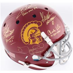 USC Trojans Full-Size Authentic On-Field Helmet Signed by (5) with Charles White, Marcus Allen, Matt