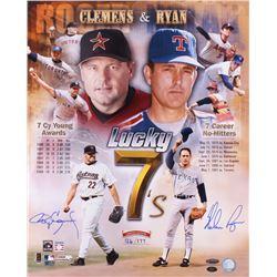 Nolan Ryan  Roger Clemens Dual Signed LE 16x20 Photo (AI Verified COA, Ryan Hologram,  TriStar Holog