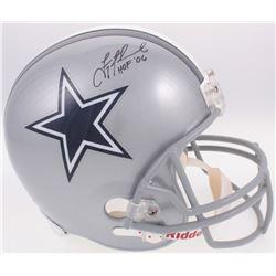 "Troy Aikman Signed Cowboys Full-Size Helmet Inscribed ""HOF '06"" (Radtke COA  Aikman Hologram)"