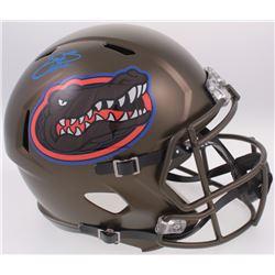 Emmitt Smith Signed Florida Gators Custom Matte Green Full-Size Speed Helmet (Prova COA)