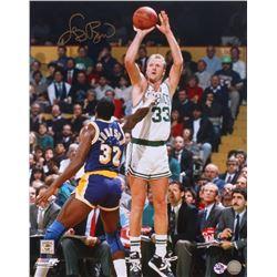 Larry Bird Signed Celtics 16x20 Photo (AI Verified COA  Bird Hologram)