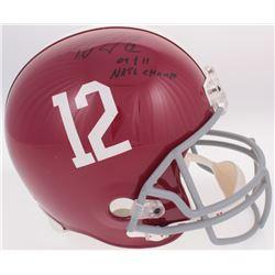 "Trent Richardson Signed Alabama Crimson Tide Full-Size Helmet Inscribed ""09  11 NATL CHAMPS"" (Radkte"