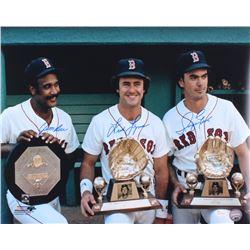 Jim Rice, Fred Lynn  Dwight Evans Signed Boston Red Sox Greats 16x20 Photo (JSA COA)