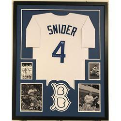 Duke Snider Signed Dodgers 34x42 Custom Framed Jersey (PSA COA)
