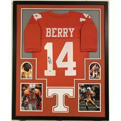 Eric Berry Signed Tennessee Volunteers 34x42 Custom Framed Jersey (PSA COA)