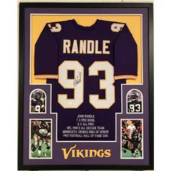 John Randle Signed Vikings 34x42 Custom Framed Career Highlight Stat Jersey (JSA COA)