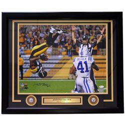 "Antonio Brown Signed Steelers ""The Flip"" 22x27 Custom Framed Photo Display (JSA COA)"