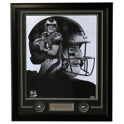 Carson Wentz Eagles 22x27 Custom Framed Photo with Laser Engraved Signature