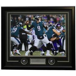 Nick Foles Eagles 22x27 Custom Framed Photo with Laser Engraved Signature