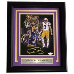 Odell Beckham Jr. Signed LSU Tigers 8x10 Custom Framed Photo (JSA COA)